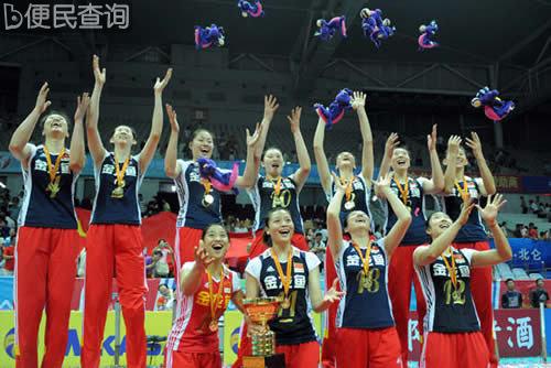 中国女排逆转俄罗斯队夺得宁波站冠军